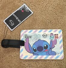 Disney Lilo & Stitch From Hawaii Postcard Luggage Tag New With Tags!