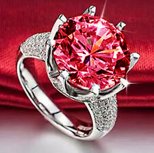 Fashion Red Garnet Birthstone 14KT Gold Filled Wedding Bridal Ring Gift Size 10