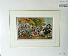 Antique Print Thomas Rowlandson mounted Dr Syntax Rural Sports