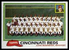 1981 Topps Baseball Grocery Cello Pack - Cincinnati Reds Team Card on Top - NM