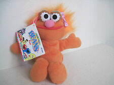 "Sesame Street Beans ZOE 8"" Orange Bean Bag Plush Stuffed Animal NWT"