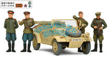 Tamiya 25153 1/35 WWII Russian Commanders & Staff Car Set w/4 Figures Model Kit