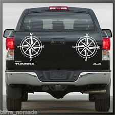 Autocollant Boussole, Decal, Land Rover, 4x4, off road, navigation, style, x 2
