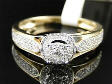 14K Ladies Yellow Gold Round Diamond Solitaire Bridal Engagement Ring .27 Ct