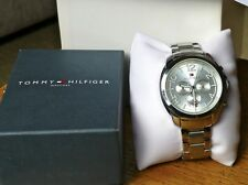 NEW MENS TOMMY HILFIGER SERENA MULTI DIAL WATCH STAINLESS STEEL BRACELET 1781391