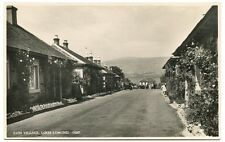 Old Rare Postcard RP Luss Village Street Scene Loch Lomond Unused (Ref: AI914)