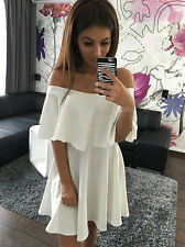 Sexy Womens Summer Casual Off Shoulder Party Evening Cocktail Short Mini Dress