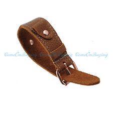 19mm Brown Genuine Leather Watch Band Strap Stainless Steel Buckle Cuff Bracelet