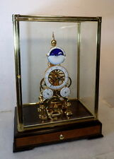 'Paris' Model Day/Nite Dial Skeleton Clock With 24K Finish--New Model