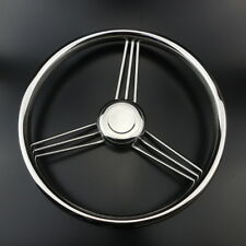 Newly 13-1/2'' 9 Spoke Stainless Steel Marine Boat Steering Wheel 15 Degree