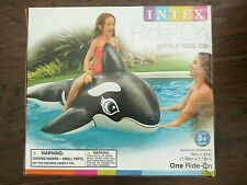 "Intex Whale Ride-On Pool Float with handles 76"" x 47"""