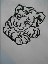 Schablone Tigerbaby  für Textilg. und v.m.  auf A4