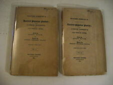 1884 JOSEPH RITSON-ANCIENT POPULAR POETRY FROM OLD COPY