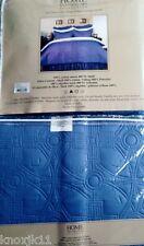 NEW Reversible TWIN Long Blue QUILT & SHAM SET Cotton Comforter Bedding NIP!