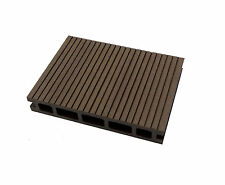 Composite Decking Walnut Sample Wood Plastic Composite Ecoscape UK WPC