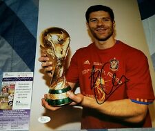 Xabi Alonso World Cup Champion Spain Signed 11x14 in person JSA CERTIFIED