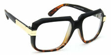 Retro Square Eyeglasses Clear Lens Black Brown Men Women Vintage Style