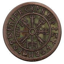 vegvisir compass viking icelandic norse runic kryptek mandrake sew iron on patch