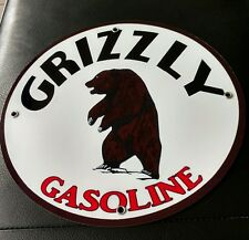 Grizzly Gas Oil gasoline sign
