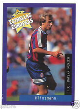 Rare '96 Panini Germany's EUROPEAN SUPER STAR Jürgen Klinsman with Bayern Munich