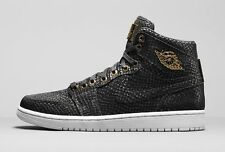 2015 Nike Air Jordan 1 Retro High Pinnacle SZ 10.5 Black 24K Gold OG 705075-030