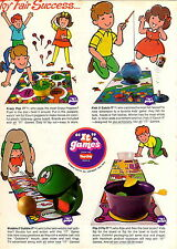 1970 ADVERT 2 Sided Play Doh Crazy Pop It Fish Catch Flip Fly Wobble Gobble