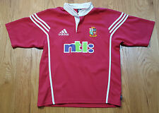 British Irish Lions Rugby Red Jersey Mens Large Australia 2001 ADIDAS vintage