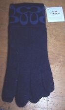 Coach Knit Tech Touch Gloves F86026 Navy Blue/ Med.Blue $65 Free Shipping