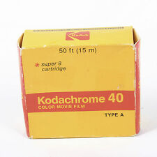 Vintage KODACHROME 40 Color Movie FILM NEW 15m super 8 MM cartridge 1981 type A