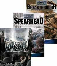 MEDAL OF HONOR Allied Assault WAR CHEST + Spearhead + Breakthrough PC Games NEW!