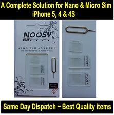 Si adatta iPhone & iPad Nano Micro Mini, SIM Card Adattatore, CONVERTITORE a standard SIM