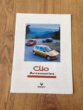 1999 Renault Clio Accessories Brochure