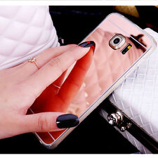 Luxury Ultra Slim Mirror Back Soft Silicone TPU Clear Bumper Phone Case Cover