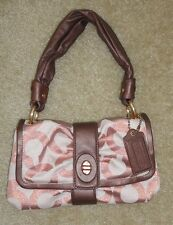 COACH Rose Gold Jacquard & Leather Parker Op Art 13699 Shoulder Bag NEW!