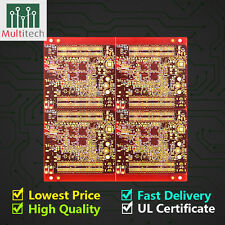 FR4 Prototype 2 Layers PCB Manufacturer Etching Fabrication Customized Service