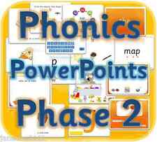 LETTERS & SOUNDS PHASE 2 EYFS KS1 Powerpoints IWB phonics teaching resources CD