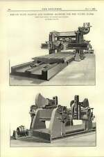 1892 Armour Plate Planing Slotting Machine For United States