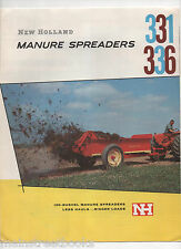 Manure Spreaders Brochure 1958 NEW HOLLAND MACHINE COMPANY w Company Letter