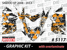 SKI-DOO XP MXZ SNOWMOBILE SLED WRAP GRAPHICS STICKER DECAL KIT 2008-2013 5117