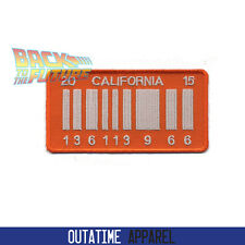 Back To The Future 2 Delorean California Outatime Number Plate 136113966 Patch