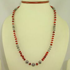 NATURAL CARNELIAN GEMSTONE FINE NECKLACE 23.5 GRAMS(5MM)