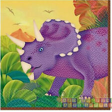 DINOSAURS Prehistoric Party SMALL NAPKINS (16) ~ Birthday Supplies Serviettes