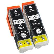 Non-OEM T3351 33xl Black Ink Cartridge x2 For Epson Expression