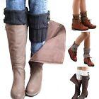 Women Winter Leg Warmers Socks Button Crochet Knit Boot Socks Toppers Cuffs US