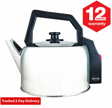 Haden Corded Electric Kettle - Traditional Stainless Steel 1.8Litre 2.2kW HK1323