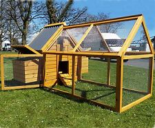CHICKEN COOP RUN HEN HOUSE POULTRY NEST BOX COOPS RABBIT HUTCH PLASTIC