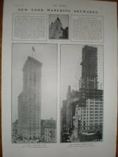Photo article New York Buildings Singer Times 1907