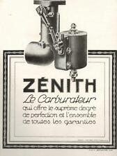 ▬► PUBLICITE ADVERTISING AD Voiture Car Carburateur ZENITH Zénith 1925