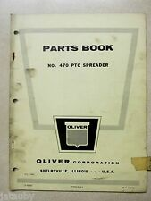 Vintage OLIVER PARTS BOOK CATALOG 470 PTO SPREADER farm tractor implement USA