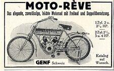 Moto - Réve Genf Schweiz Das elegante leichte Motorrad mit Freilauf u. Do...1913